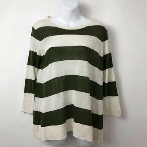 J Crew Swingtime Pullover Stripe Sweater Sz XS